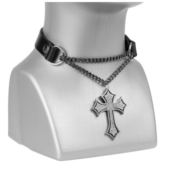 Colier / choker Cruce, Leather & Steel Fashion