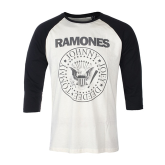 Tricou bărbați mâneci 3/4 RAMONES - CLASSIC LOGO - ECRU / NEGRU RAGLAN2 - GOT TO HAVE IT, GOT TO HAVE IT, Ramones