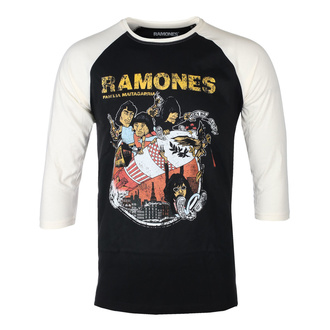 Tricou bărbați mâneci 3/4 RAMONES - ROCKET CARTOON - NEGRU / ECRU RAGLAN - GOT TO HAVE IT, GOT TO HAVE IT, Ramones