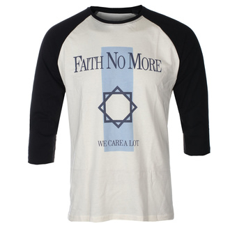 Tricou bărbați mâneci 3/4  FAITH NO MORE - WE CARE A LOT - ECRU / NEGRU RAGLAN - GOT TO HAVE IT, GOT TO HAVE IT, Faith no More