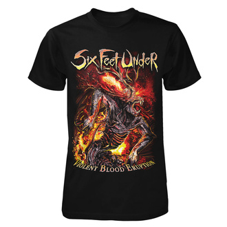 tricou stil metal bărbați Six Feet Under - Violent Blood Eruption - ART WORX, ART WORX, Six Feet Under
