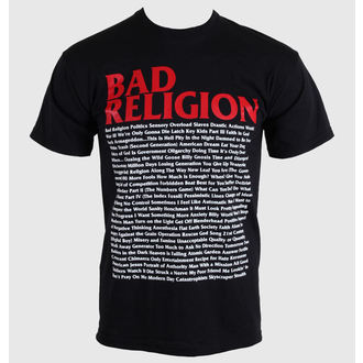 tricou stil metal bărbați Bad Religion - Song List - KINGS ROAD, KINGS ROAD, Bad Religion