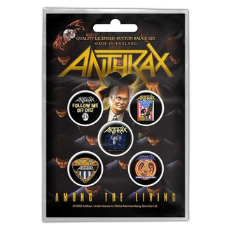 Insigne Anthrax - Among The Living - RAZAMATAZ, RAZAMATAZ, Anthrax