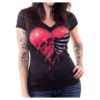 tricou hardcore femei - ANGEL RIBCAGE HEART - LETHAL THREAT, LETHAL THREAT