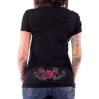tricou hardcore femei - ANGEL RED CATRINA BLACK - LETHAL THREAT, LETHAL THREAT