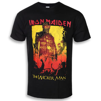tricou stil metal bărbați Iron Maiden - The Wicker Man Fire - ROCK OFF, ROCK OFF, Iron Maiden