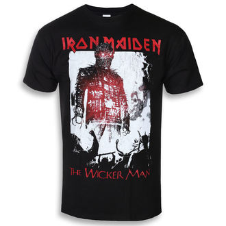 tricou stil metal bărbați Iron Maiden - The Wicker Man Smoke - ROCK OFF, ROCK OFF, Iron Maiden