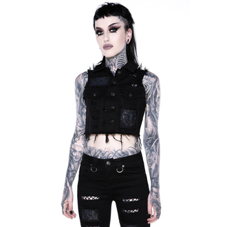 Vestă de damă KILLSTAR - Come Undone Denim Vest, KILLSTAR