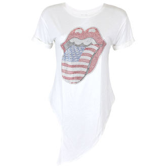tricou stil metal femei Rolling Stones - RS USA BLING TONGUE WHITE - PLASTIC HEAD, PLASTIC HEAD, Rolling Stones