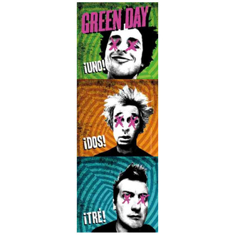 Steag Green Day - 1-2-3, HEART ROCK, Green Day
