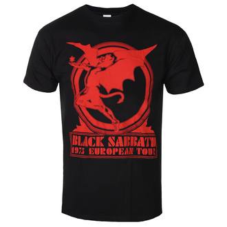 Tricou bărbătesc Black Sabbath - Europe '75 - ROCK OFF, ROCK OFF, Black Sabbath