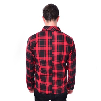 Cămașă bărbătească Chemical Black - EZRA - RED CHECK, CHEMICAL BLACK