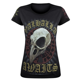 Tricou pentru femei VICTORY OR VALHALLA - CROW SKULL, VICTORY OR VALHALLA