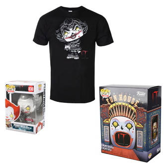 Set (figurină de acțiune + tricou) TO - Stephen Kings - POP! - Pennywise, POP