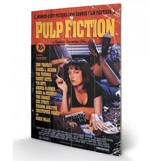 Pictură pe lemn Pulp Fiction - (Cover) - PYRAMID POSTERS, PYRAMID POSTERS, Pulp Fiction