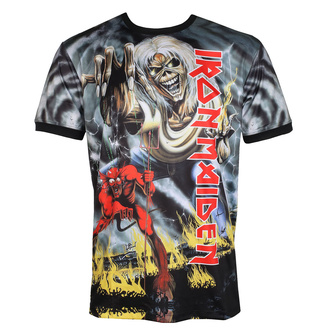 Tricou bărbătesc (tehnic) IRON MAIDEN - NUMBER OF THE BEAST - NEGRU - AMPLIFIED, AMPLIFIED, Iron Maiden