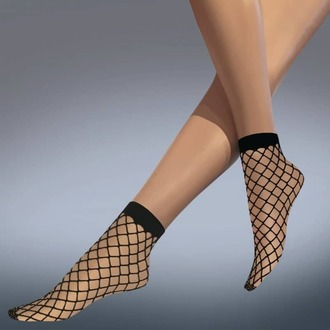 Şosete (mulate) LEGWEAR - whale net ankle highs - black, LEGWEAR